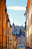 Street in Old Town in Stockholm Royalty Free Stock Photo