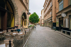 Street in the old town in Stockholm in Sweden Stock Photography