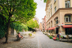 Street in the old town in Stockholm in Sweden Royalty Free Stock Image