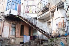 Street in  the old town.Tbilisi, Georgia Royalty Free Stock Photo