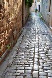 The street of old town in Trogir, Croatia Stock Photo