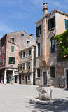 Street in the old town in Venice Italy Royalty Free Stock Photo
