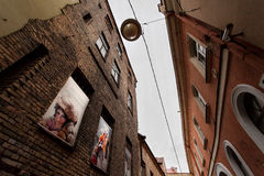 Street of the Old Town, Vilnius Royalty Free Stock Images