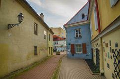 Street in the Old Town of Vilnius,  Lithuania Royalty Free Stock Photography