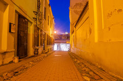 Street in the Old Town of Vilnius, Lithuania Stock Photos