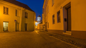 Street in the Old Town of Vilnius, Lithuania Royalty Free Stock Photo