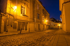 Street in the Old Town of Vilnius, Lithuania Royalty Free Stock Image