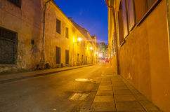 Street in the Old Town of Vilnius, Lithuania Stock Image