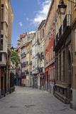 Street. In the old town of Vitoria Gasteiz Royalty Free Stock Images