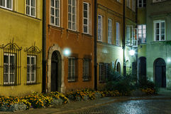 The street of the old town in Warsaw Stock Image
