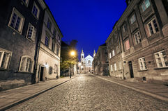 The street of the old town in Warsaw Royalty Free Stock Photo