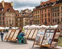 Street in the old town  Warsaw Royalty Free Stock Photos