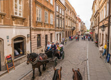 Street in the old town  Warsaw Stock Photos