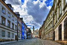 Street of the old town in Warsaw. Street Mostowa Stock Images