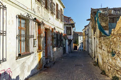 Street in old town of Xanthi, East Macedonia and Thrace Royalty Free Stock Photos