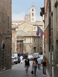 Street of old Urbino Italy Stock Photography