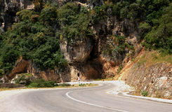 Street in the Omani mountains. A new street in the Omani mountains near the city of Salalah royalty free stock photography