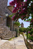 Street at Omis, Croatia. Architecture background royalty free stock images