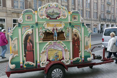 Street organ in amsterdam centre Royalty Free Stock Image
