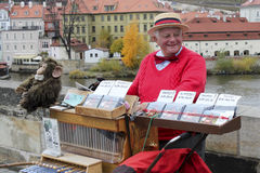 Street organ grinder Royalty Free Stock Photos