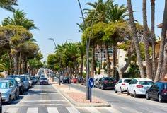 Street of Orihuela city Stock Image