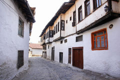 Street with ottoman style houses in Kutahya Turkey Stock Photo