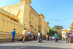 Street outside Jantar Mantar Royalty Free Stock Photography