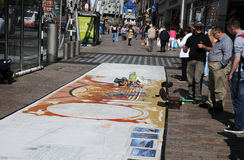 Street painter Royalty Free Stock Photography