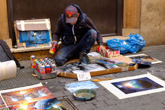 Street painter Royalty Free Stock Image