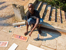 Street painter in Mozambique Royalty Free Stock Image