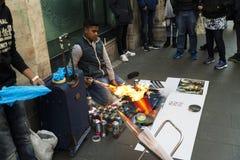 Street painter Stock Photography