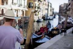 Street painter in Venice Stock Photography