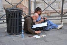 Street painter Royalty Free Stock Photos