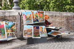 Street painter at work in Rome, Italy Stock Photo
