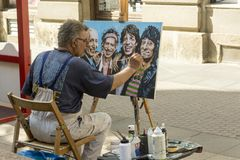 Street painter in Zagreb, Croatia Stock Image