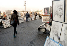 Street painters Royalty Free Stock Photos