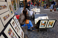 Street painters Stock Images