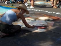 Street Painting Stock Images