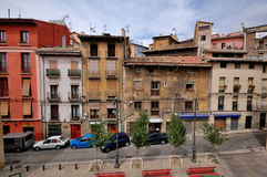 Street in Pamplona, Spain. A pciture of a colourful street in Pamplona, Spain Stock Images