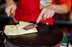 Street pancake Royalty Free Stock Image