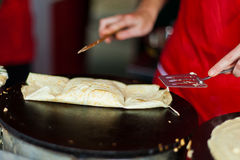 Street pancake Stock Photography
