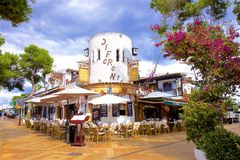 Streets of Cala D`Or, Mallorca royalty free stock images