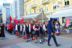 Street parade folklore fest,Plovdiv Royalty Free Stock Photography