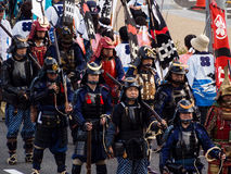 Street parade during Nobunaga festival in Gifu, Japan Stock Photos