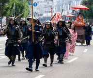 Street parade during Nobunaga festival in Gifu, Japan Royalty Free Stock Images