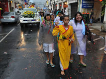 Street Parade of the Phuket Vegetarian Festival. Taoists devotees participate in a street procession to mark the Nine Emperor Gods Festival, known locally as the Stock Images