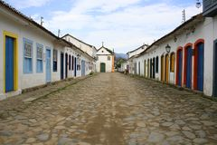 Street in Parati royalty free stock photography