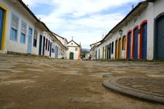 Street in Parati Royalty Free Stock Images