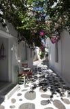 Street in Paros island stock photos