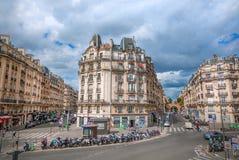 Street in Paris stock photography